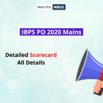 IBPS PO 2020 Mains Detailed Scorecard- All Details