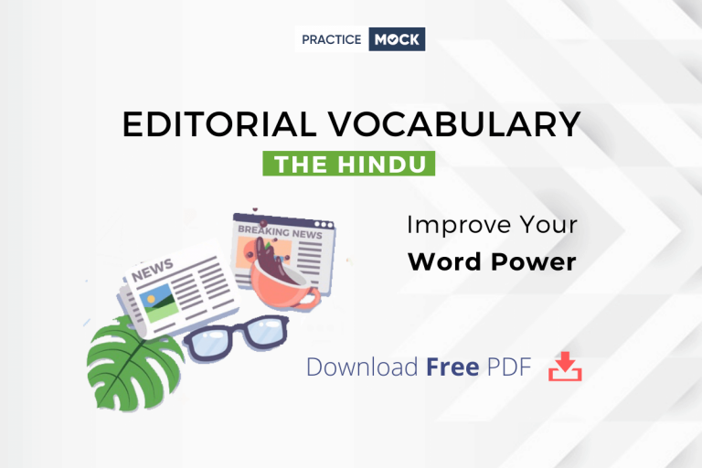 The Hindu Editorial Vocabulary- Download Free PDF