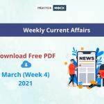Weekly CA March Week 4 PDF