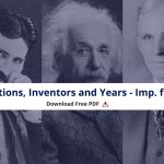 Inventions, Inventors & Years PDF