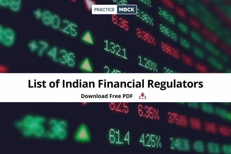 List of Indian Financial Regulators- Download Free PDF
