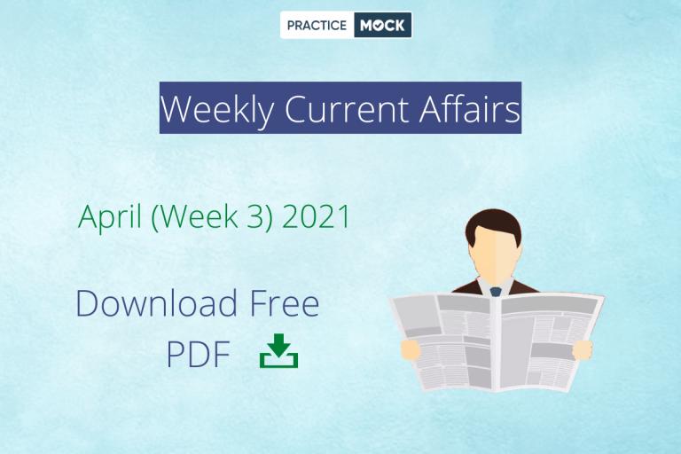 Weekly CA PDF April Week 3