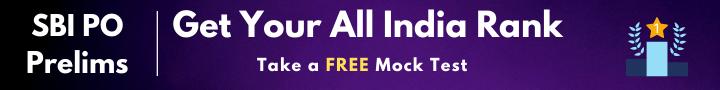 SBI PO Prelims Free Mock Test
