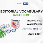 Difficult Words from Hindu Editorial   Apr 2021- Download PDF