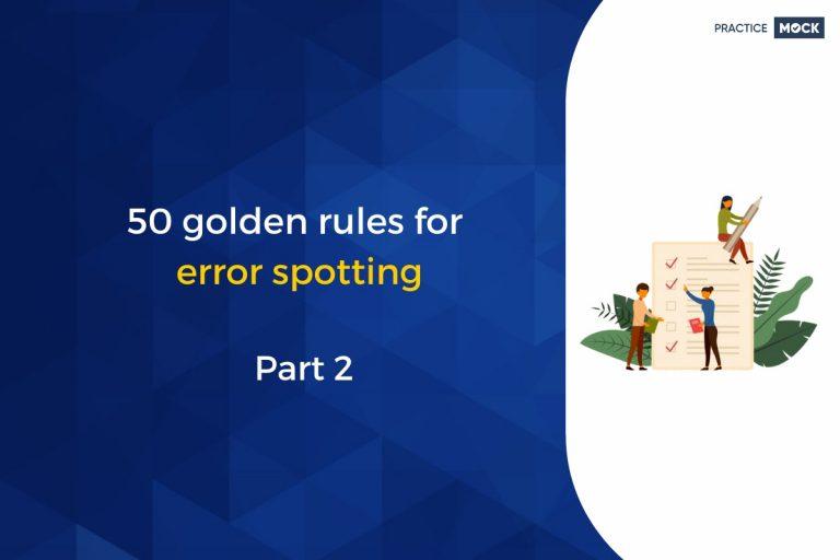 50 golden rules for error spotting – Part 2