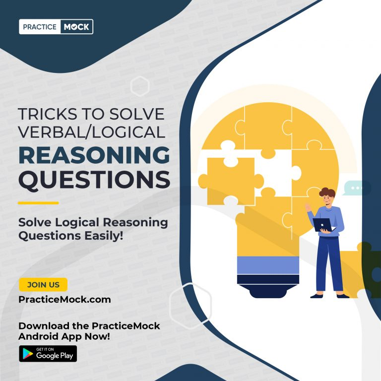 Tricks to solve Verbal/Logical Reasoning Questions-RRB Clerk 2021