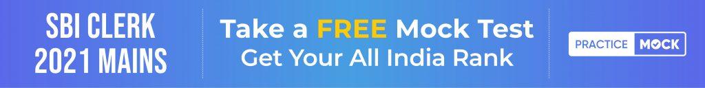 SBI_Clerk Mains Free Mock