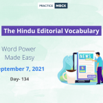 The Hindu Editorial Vocabulary– Sep 7, 2021; Day 134