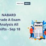 NABARD Grade A Exam Analysis All shifts - Sep 18